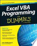 Excel Vba Programming For Dummies Book