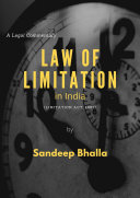Law of Limitation in India