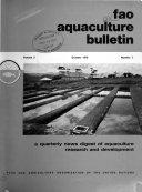 Fao Aquaculture Bulletin