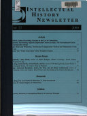 Intellectual History Newsletter
