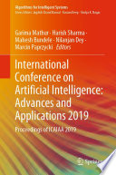 International Conference on Artificial Intelligence  Advances and Applications 2019