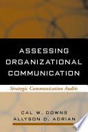 Assessing Organizational Communication Book