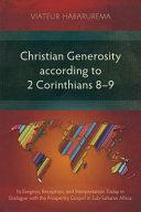 Christian Generosity According To 2 Corinthians 8 9