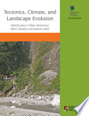 Tectonics  Climate  and Landscape Evolution