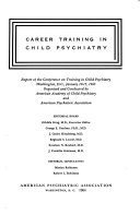 Career Training in Child Psychiatry