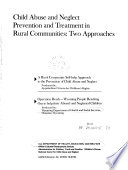 Child Abuse And Neglect Prevention And Treatment In Rural Communities Book PDF