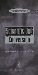 Pdf Scientific Unit Conversion Telecharger