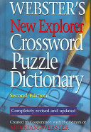 Webster S New Explorer Crossword Puzzle Dictionary PDF