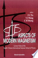Aspects Of Modern Magnetism Book PDF