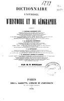 Dictionnaire universel d'histoire et de géographie: t. 2