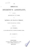 Biblical Student S Assistant