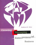 Cover of Growing and Managing an Entrepreneurial Business