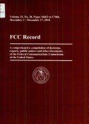 Federal Communications Commission  Book