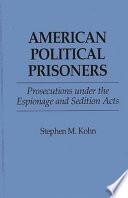 American Political Prisoners Book