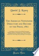 The American Newspaper Directory and Record of the Press, 1861