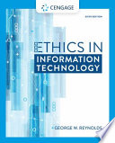 Cover of Ethics in Information Technology