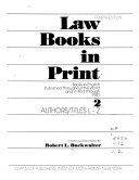 Law Books In Print