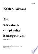Zielwörterbuch europäischer Rechtsgeschichte