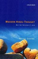 Modern Hindu Thought