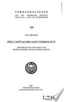 Pre-capitalism and Cosmology