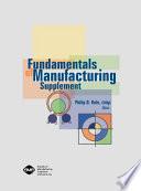 Fundamentals of Manufacturing Supplement