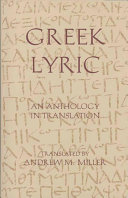 Greek Lyric Pdf/ePub eBook