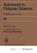 The Entanglement Concept In Polymer Rheology Book PDF