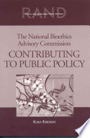 The National Bioethics Advisory Commission Book PDF