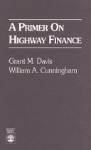 A Primer on Highway Finance