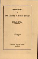 Pdf Proceedings of The Academy of Natural Sciences (Vol. CVIII, 1956) Telecharger