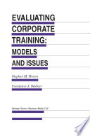 Evaluating Corporate Training Models And Issues Book PDF