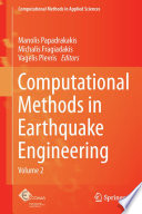 Computational Methods In Earthquake Engineering Book PDF