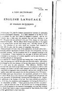 A New Dictionary of the English Language   A prospectus  December  1834