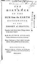 The Distance of the Sun from the Earth Determined by the Theory of Gravity ...