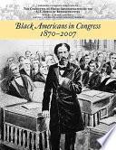 Black Americans In Congress 1870 2007