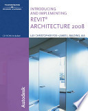 Introducing and Implementing Revit Architecture