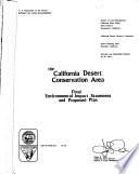 The California Desert Conservation Area