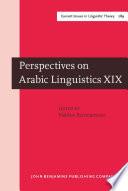 Perspectives on Arabic Linguistics
