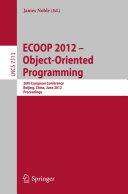 ECOOP 2012    Object Oriented Programming