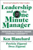 Leadership and the One Minute Manager Updated Ed Book