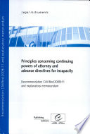 Principles Concerning Continuing Powers of Attorney and Advance Directives for Incapacity