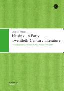 Pdf Helsinki in Early Twentieth-Century Literature