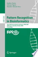 Pattern Recognition in Bioinformatics Book