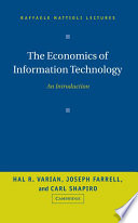 The Economics Of Information Technology Book