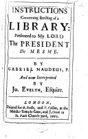 Instructions concerning erecting of a Library     Interpreted by Jo  Evelyn