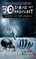 30 Days of Night  Rumors of the Undead Book PDF