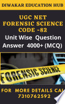 UGC NET Forensic Science Practice  Sets  Unit wise Topics Wise 4000  Practice Question Answer As Per New Updated Syllabus Book