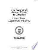 Secretary s Annual Report to Congress Book