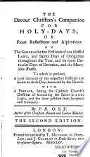 The Devout Christian s Companion for Holy days