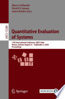 Quantitative Evaluation Of Systems Book PDF